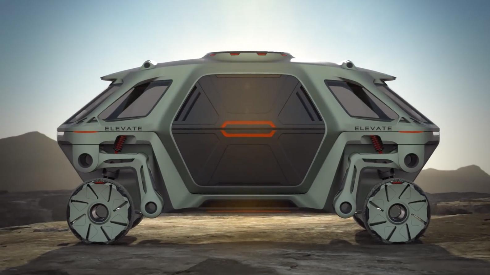 """未来的汽车长这样 现实版""""变形金钢"""""""