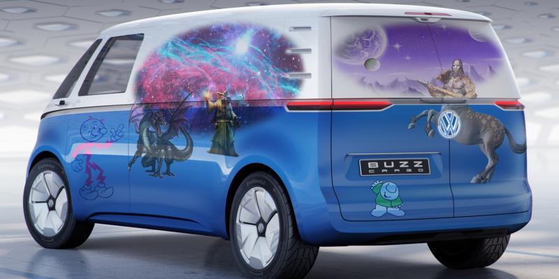 每日新闻:骚断腿!大众I.D. Buzz Cargo复古概念电动车全球首发