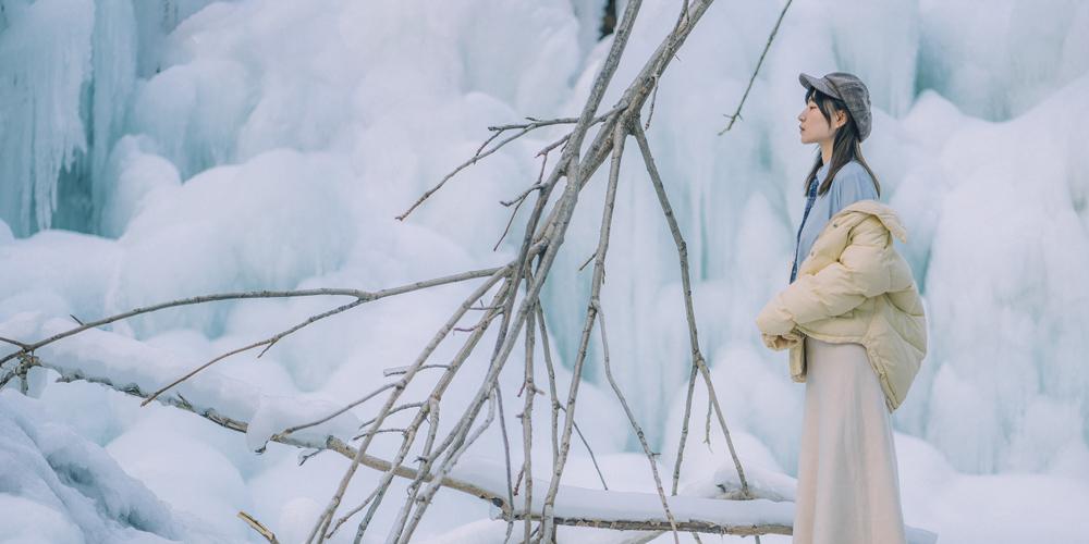 郊游京北黑龙潭,带小姐姐看帝都最美冰瀑