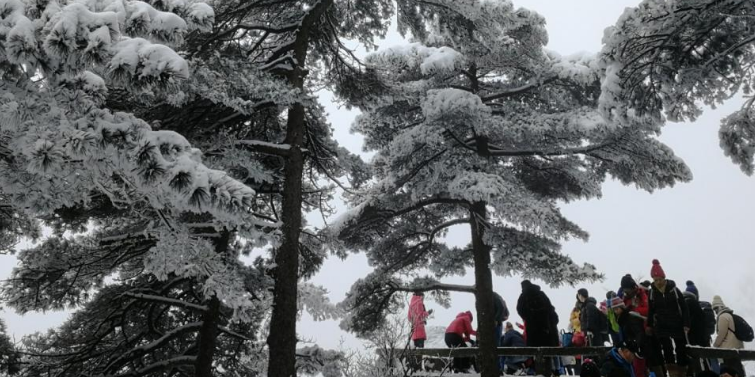 为了满足女儿看雪的愿望,自驾蒙迪欧去黄山