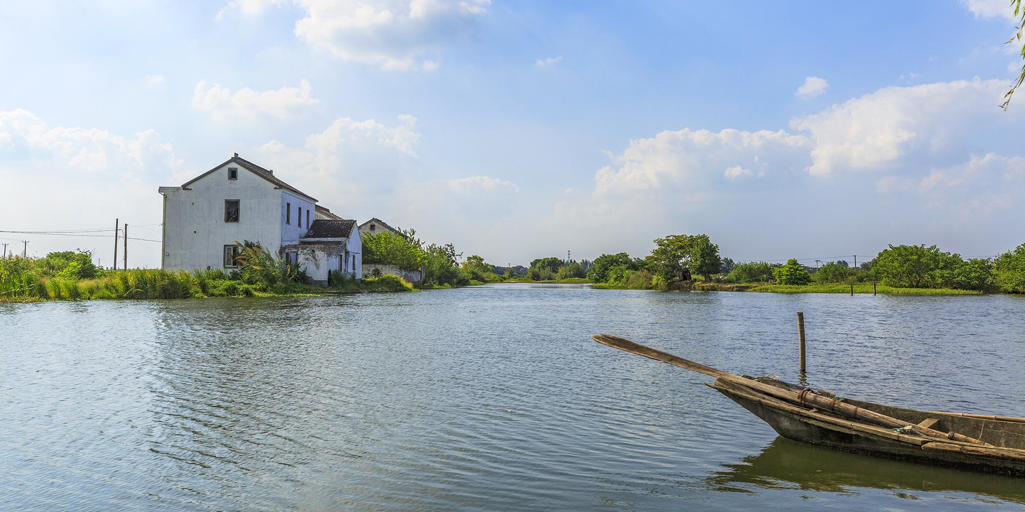 江南建筑风貌的四合院 小桥流水人家