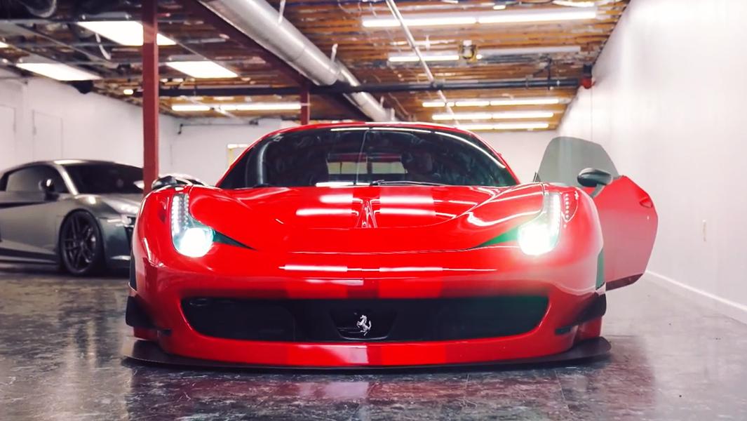 地下车库的法拉利458 Italia GT3  视频结尾有福利!
