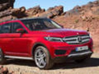 奔驰GL将换代-图片曝光 涉及多款衍生车