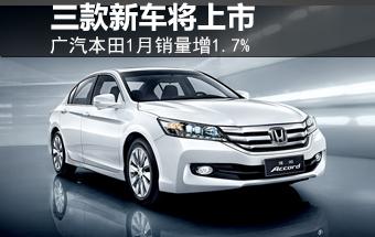 广汽本田1月销量增1.7% 三款新车将上市