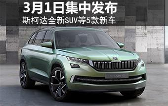 斯柯达全新SUV等5款新车 3月1日集中发布