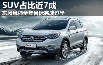 东风风神全年目标完成过半 SUV占比近7成