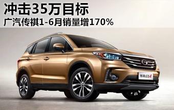 广汽传祺1-6月销量增170% 冲击35万目标