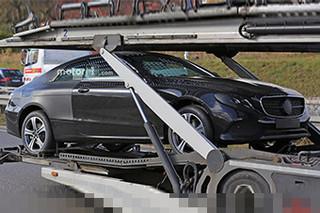 奔驰全新E级轿跑谍照曝光 明年一月发布
