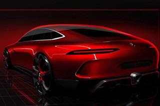AMG全新GT概念车预告图 日内瓦车展亮相