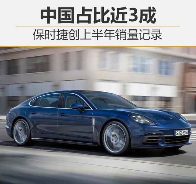 保时捷创上半年销量记录 中国占比近3成