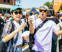 日本音乐节上时髦的年轻人们
